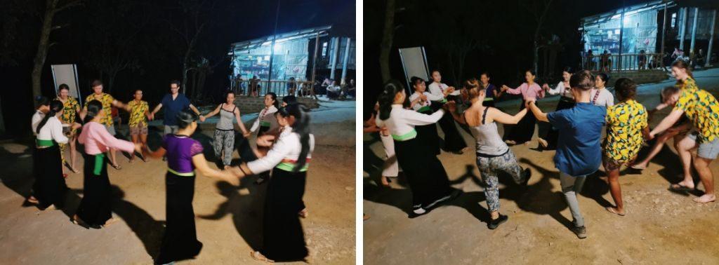 Danze tipiche in un villaggio rurale in Vietnam
