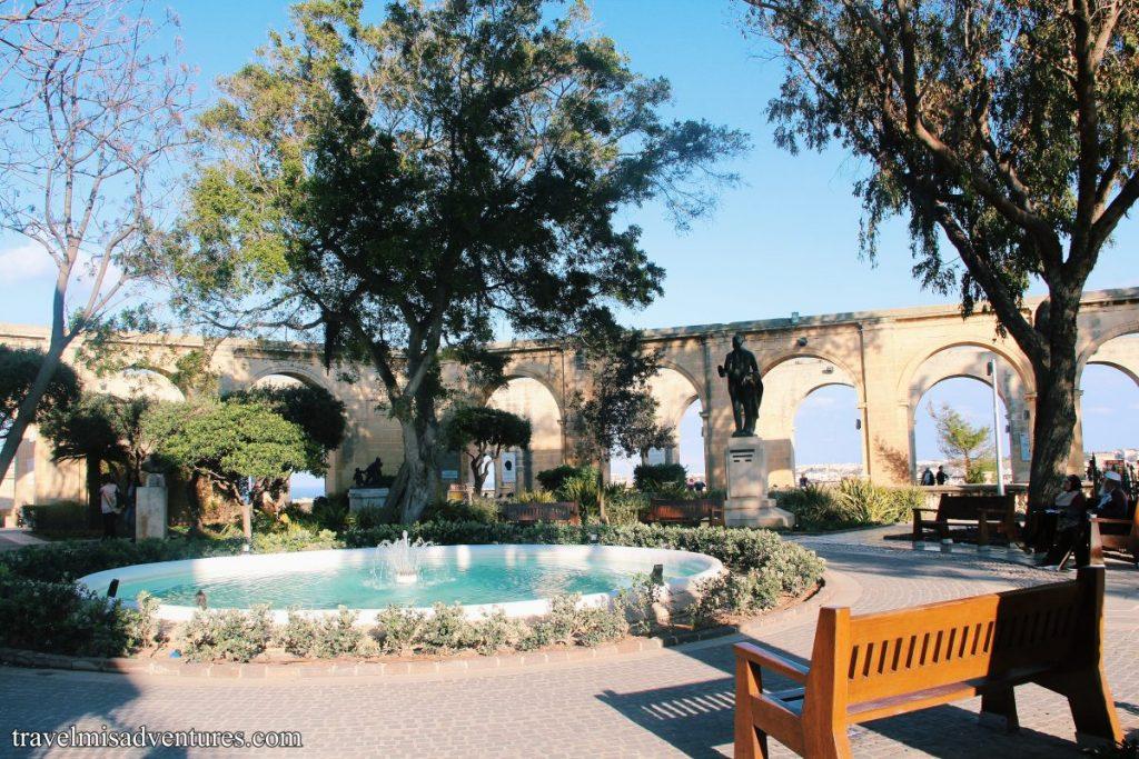 Da non perdere a Malta: Upper Barakka Gardens