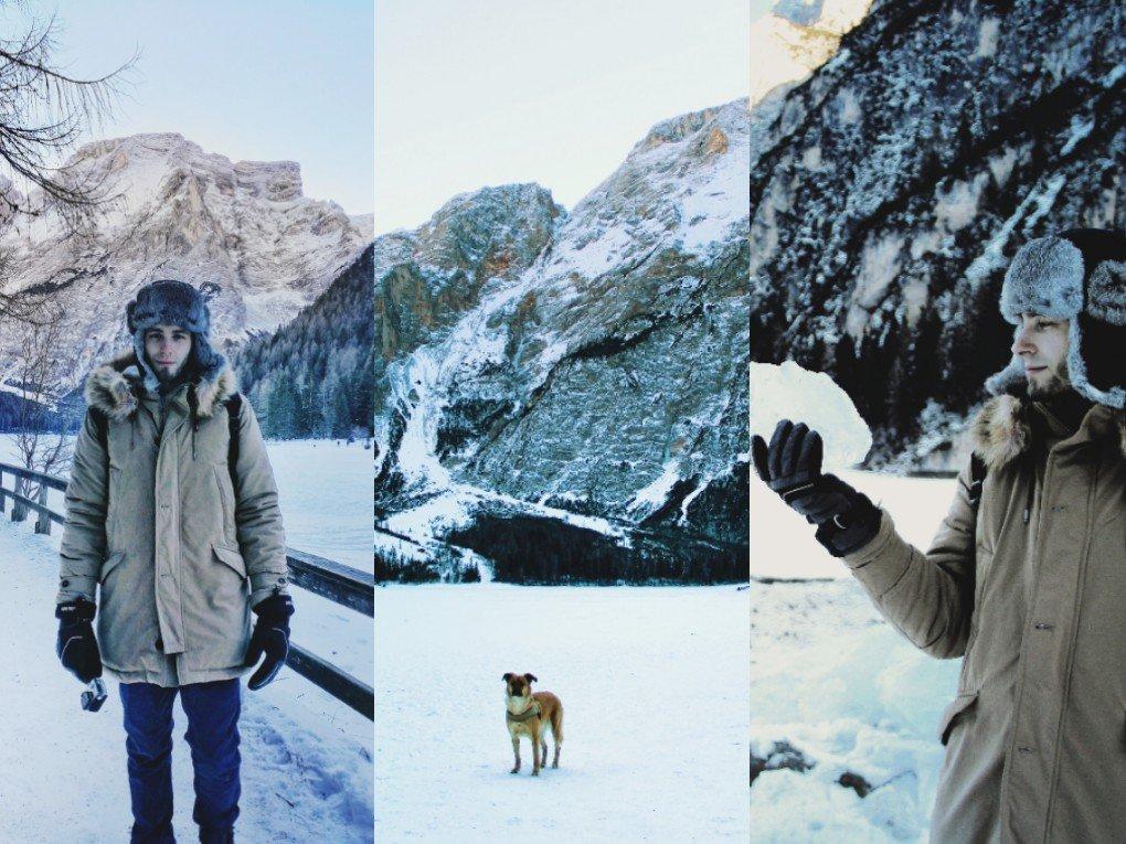 Lago di Braies in inverno