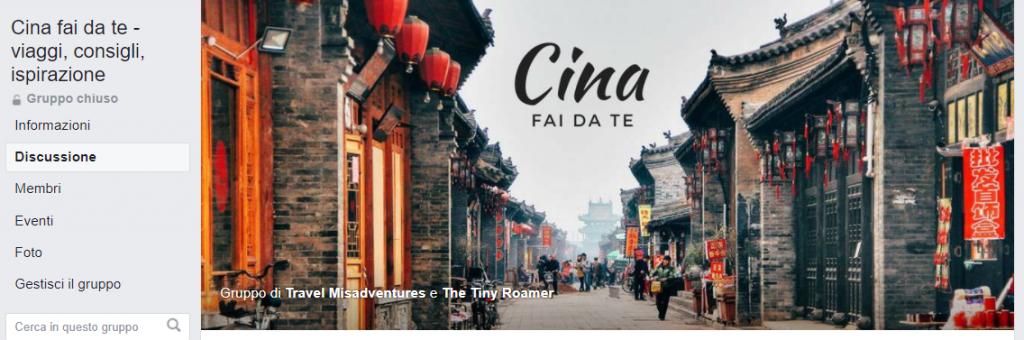 Gruppo facebook viaggi in Cina