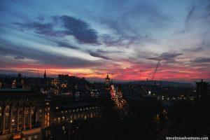 Edimburgo-tramonto-Scozia