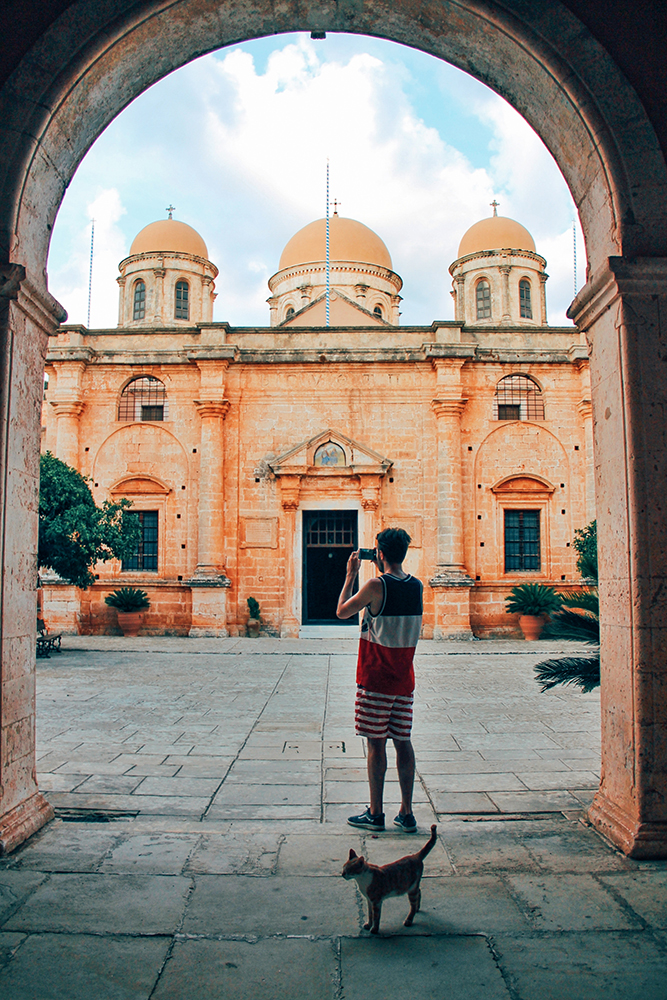 Monastero Agia Triada Creta itinerario