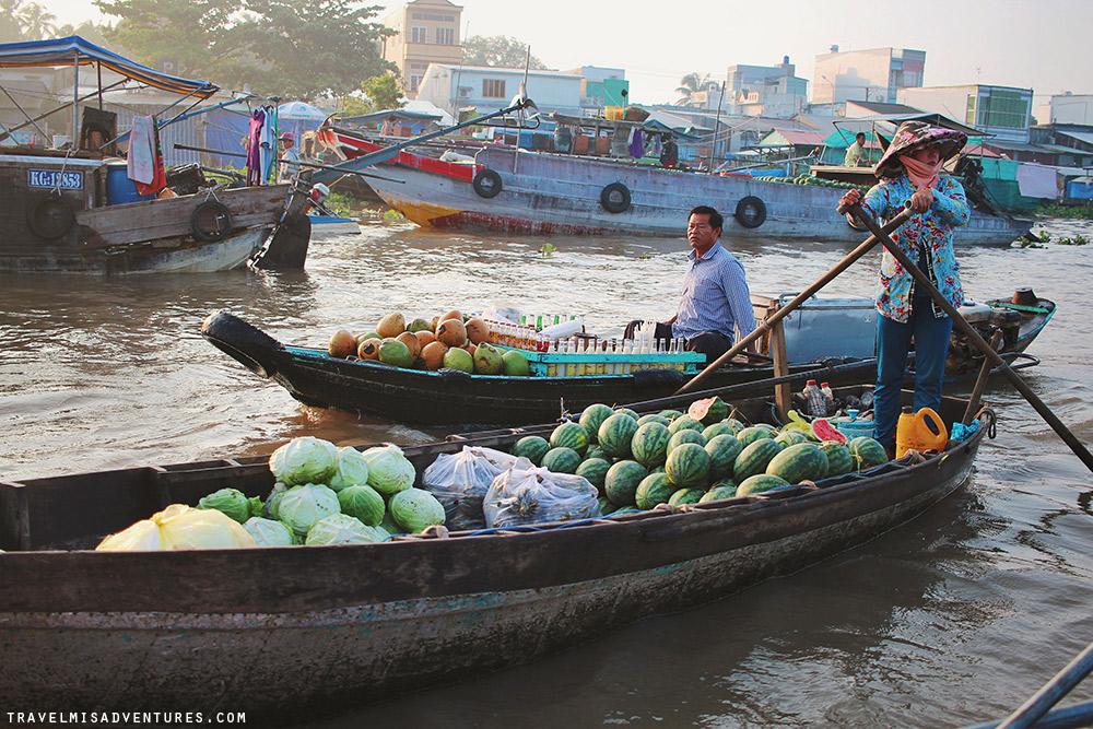 Mekong cosa vedere - Mercato galleggiante Cai Rang
