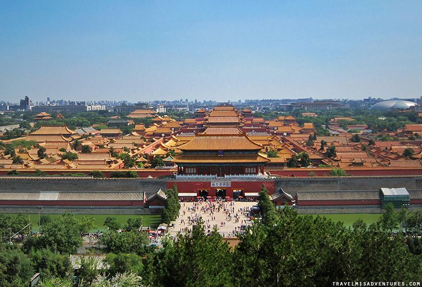 Vedere la città Proibita dall'alto a Pechino