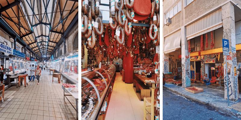 Mercato centrale di Atene e dintorni