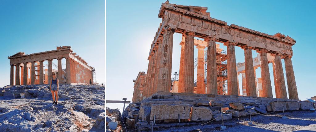 Partenone, nell'Acropoli di Atene